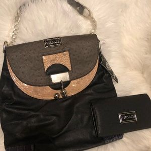 Black Versace purse